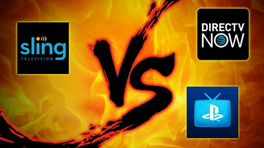 Live TV Streaming Showdown: Sling vs. Playstation Vue vs. DirecTV Now