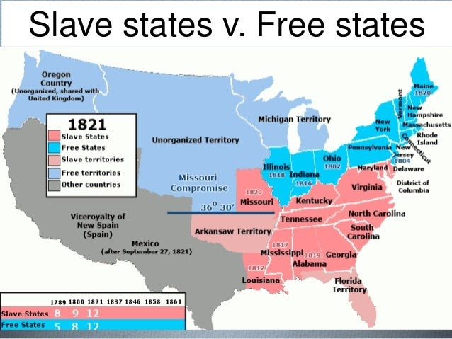 Free And Slave States Map World Map Atlas