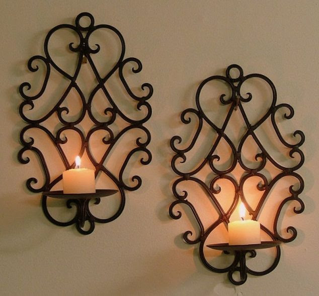 3c38fb9636579f7db69c08953863488e 634x589 15 Chic Wrought Iron Wall Candle Holders You Will Admire