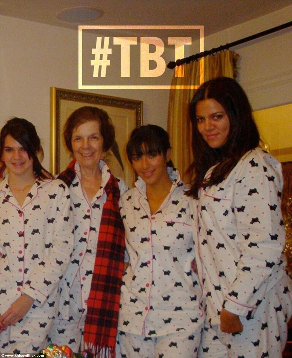 Changes! She captioned the three snaps: 'My family started our Christmas tradition of wearing matching PJs a few years ago