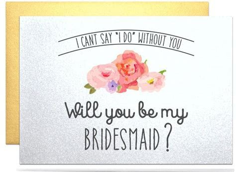 Will You Be My Bridesmaid Gift Request Card Will You Be My