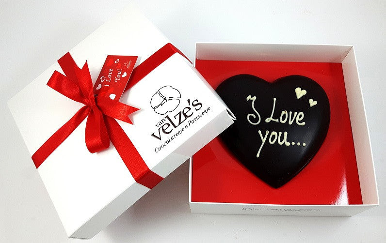 Luxury Chocolate Heart I Love You Van Velzes Chocolate Shop