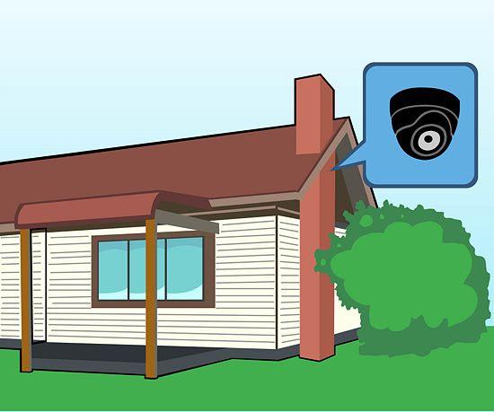lắp đặt camera tại khu vực áp mái