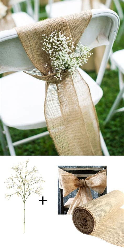 Make these adorable chairbacks with burlap and faux baby's