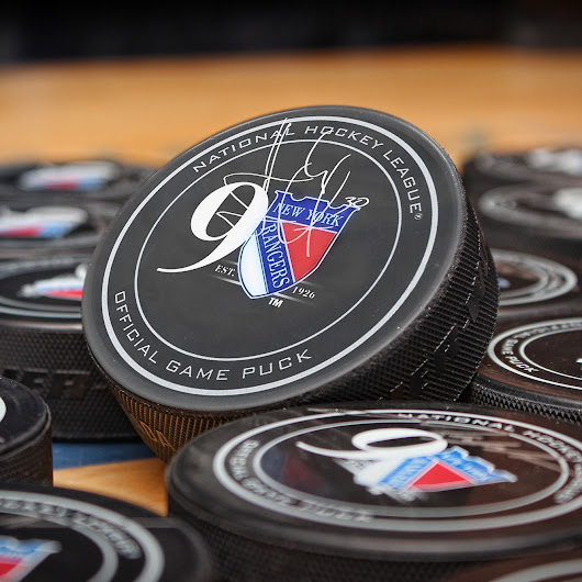 New York Rangers 90th Anniversary Autographed Puck Giveaway