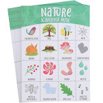 Scavenger Hunt Game - 50-Pack Nature Scavenger Hunt Set for Kids, Childrens Outdoor Game Cards, Spot Up to 16 Items, Birthday Party Favors, Classroom