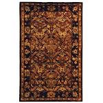 Safavieh Handmade Antiquity Manda Traditional Oriental Wool Rug Dark Plum/Gold 3' x 5' 3' x 5' Rectangle