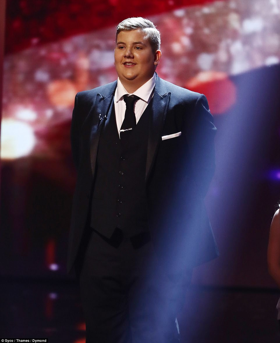 Singing sensation:David's golden buzzer act Kyle Tomlinson was up next and wowed with his performance of Christina Perri's A Thousand Years