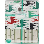 Christmas Reindeer/ Birch Trees (6 Sheet Value Pack) - Eco-Friendly Wrapping Paper - Reversible - Gift Wrap by Wrappily