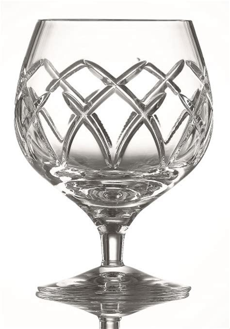 Galway Crystal Mystique Brandy Glasses Pair