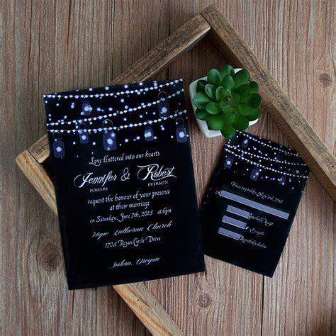 romantic string light mason jar wedding invitation EWI398