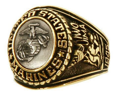 Men's US Marine Corps Bronze Insignia Ring   eBay
