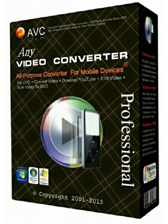 Any Video Converter Professional 5.9.4 Full Version with Serial Key, License Code Free  Download