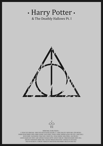 Harry Potter And the Deathly Hallows pt. I - minimalist poster