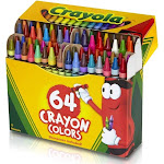 Crayola Llc 52-0064 Crayola Llc 52-0064 Crayons Assorted Colors 64 Count