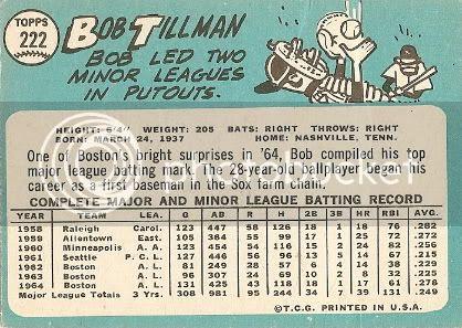 #222 Bob Tillman (back)