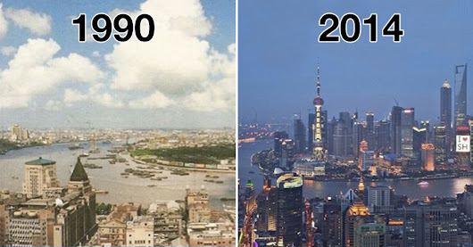 Before and after: seeing how much the world has changed in the last century will blow your mind!