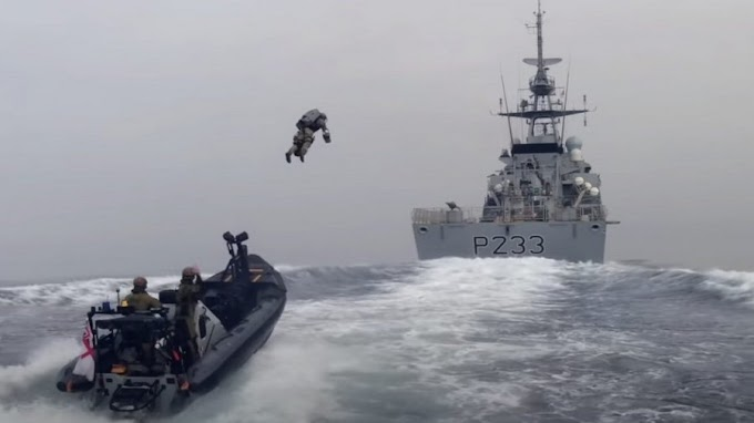 Watch a Jet Suit Pilot Fly onto a Ship to Trial the Tech for Fighting Pirates