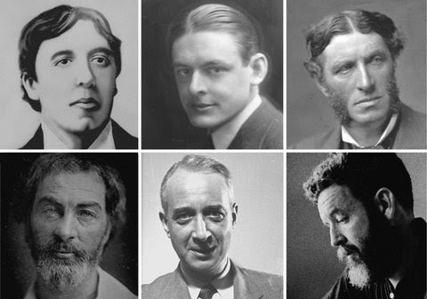 "Clockwise from top left: Oscar Wilde, T. S. Eliot, Matthew Arnold, Randall Jarrell, Lionel Trilling and Walt Whitman. <a href=""http://www.nytimes.com/2011/01/02/books/review/LitCritBackPage-t.html"">Related Article </a>"