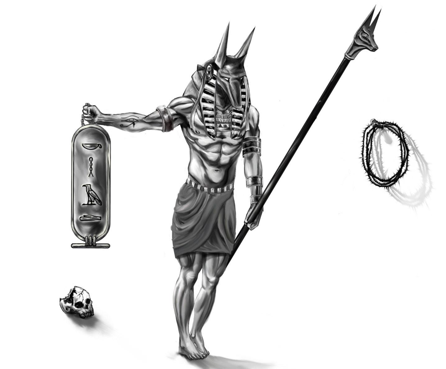Egyptian God Tattoo Design For Men