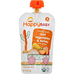 Happy Baby Hearty Meals Baby Food, Organic, Root Vegetables & Turkey, 3 (7+ Months) - 4 oz