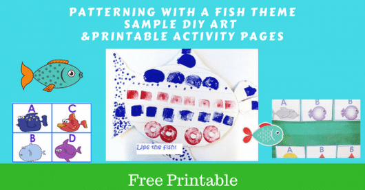 Free Patterning Printable for A, B, C, D Fish Theme
