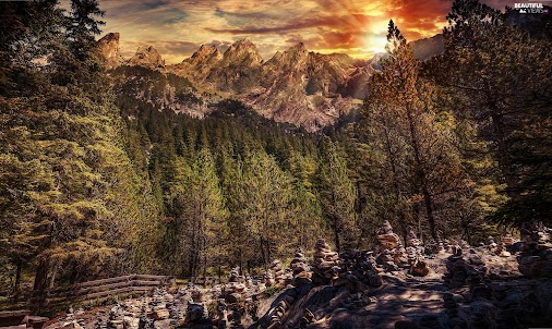 #Beautiful #views #wallpapers #full #hd #Bernese #Alps #Stones #Sunrise #forest #morning #Canton #of...