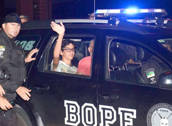uri Luiz, 14 anos, após cárcere privado de mais de 40 horas  - Foto: Júnior Santos