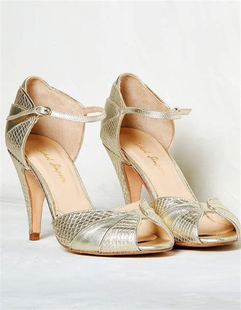 GIGI Gold High Heels   Buy Gold Designer Wedding Shoes Online