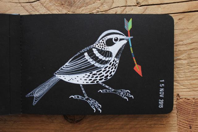 Warbler 'on black'