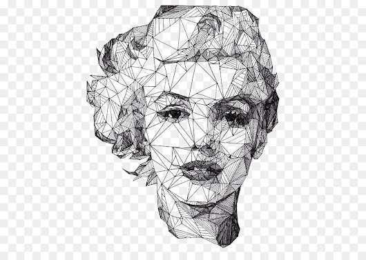 Portrait Drawing Geometry Artist Illustration - Diamond woman's face - Unlimited Download. Kisspng.com.
