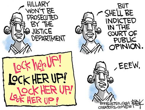 Image result for lock her up cartoons