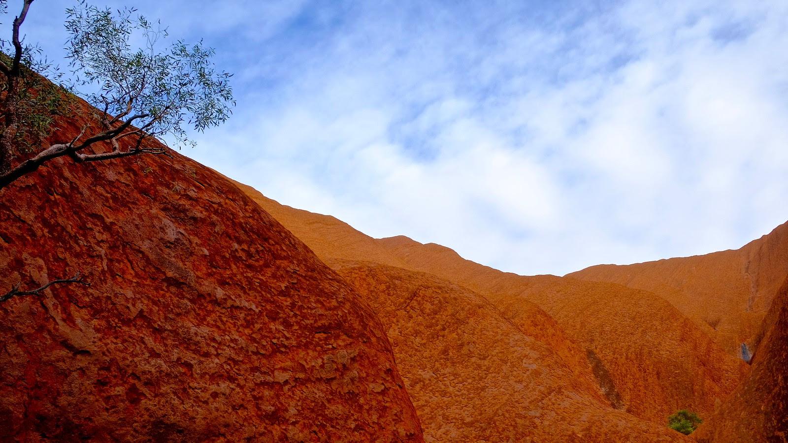 Uluru rockface
