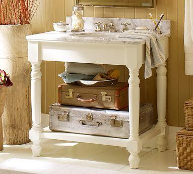 Petaluma Single Sink Console | Pottery Barn