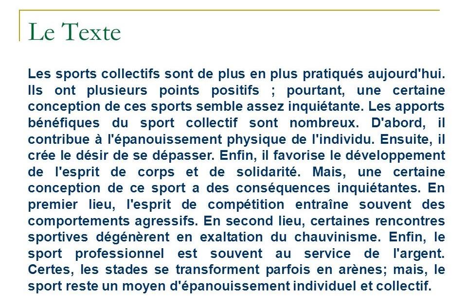 Dissertation sur le sport et la sant