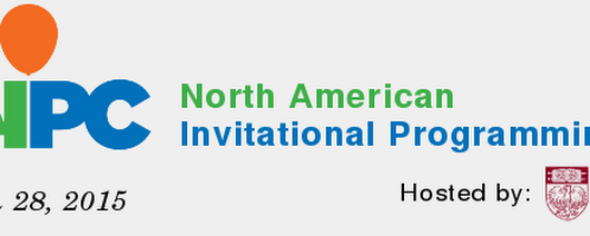 The North American Invitational Programming Contest 2015 — NAIPC 2015 - North American Invitational Programming Contest 2015
