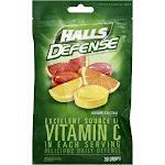 Halls Vit C Drops Size 30ct Halls Defense Vitamin C Drops 30ct -PACK 12