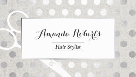 Girly Hair Salon Business Cards - Page 1