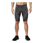 Men's CW-X Mid Rise Endurance Pro Compression Shorts, Adult, Size: L (170 lbs), Charcoal/Charcoal/Silver Stitch