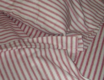 flannel sheets ticking stripes