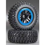 Traxxas Assy Glued SCT Split-Spoke Black Tire/Wheel TRA5883A