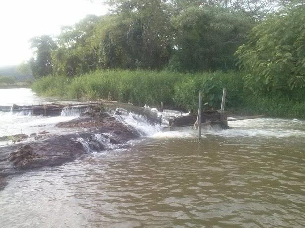 Grades que impediam o curso normal dos peixes no rio Muriaé. (Foto: Divulgação)