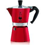 Bialetti 06633 6 Cup Moka Stovetop Espresso Maker, Red