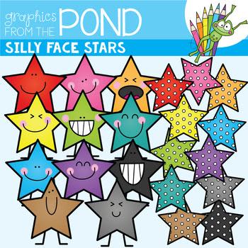 Silly Stars - FREE Clip Art & Line Art for Teachers