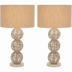 Studio 350 Metal Rattan Table Lamp 26 inches high