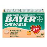 Bayer - Childrens Chewable, Childrens Aspirin Pain Reliever, 81Mg, Orange - 36 Ea