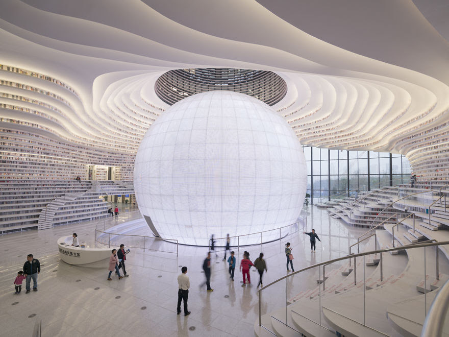 "China Opens World's Coolest Library, Its Interior ""Will Take Your Breath Away"" (Pics)"