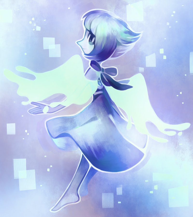 I don't want to show too much of what I'm working on right now, but here's Lapis I painted on stream!