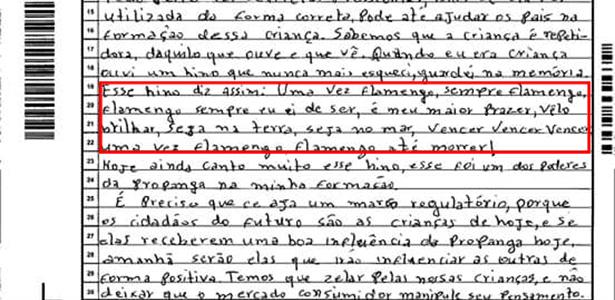 Francisco Elias da Silva, 26, tirou 600 na redação após citar o hino do Flamengo