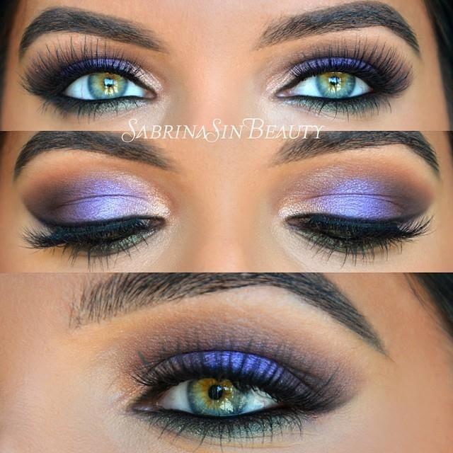 Bright purples.